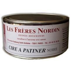 CIRE A PATINER NOIRE 250 ml des Frères NORDIN