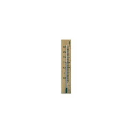 Thermomètre d'intérieur, hêtre