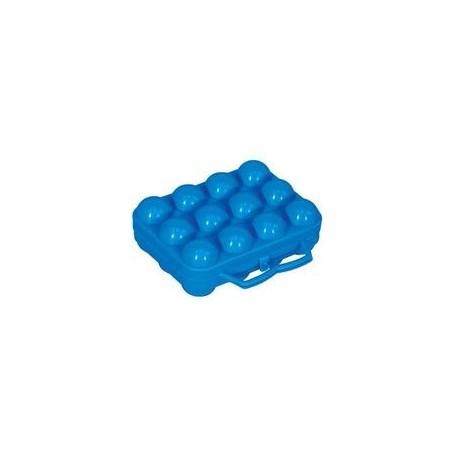 Boîte à 12 oeufs bleu ALUMINIUM ET PLASTIQUE