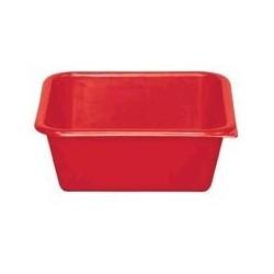 Cuvette carrée 1,5 L rouge ALUMINIUM ET PLASTIQUE