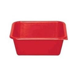 Cuvette carrée 3 L rouge ALUMINIUM ET PLASTIQUE