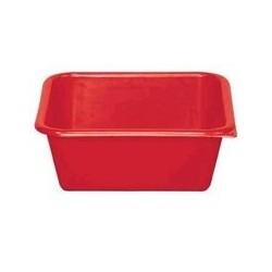 Cuvette carrée 5,5 L rouge ALUMINIUM ET PLASTIQUE