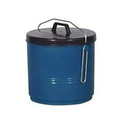 Poubelle étrier 16 L bleue et noire ALUMINIUM ET PLASTIQUE