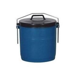 Poubelle étrier 22 L bleue et noire ALUMINIUM ET PLASTIQUE