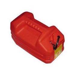 Jerrican rouge 5 L avec bouchon verseur DAVID