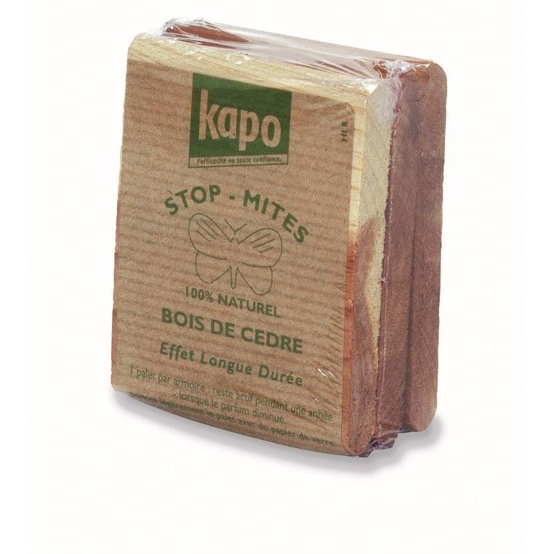 droguerie en ligne lafanechere 3 plaquettes bois de cedre rectangulaires anti mites kapo. Black Bedroom Furniture Sets. Home Design Ideas