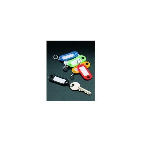 6 porte-clés plaquettes identités METALTEX - SOREPRO