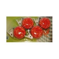Pendeloques de nappe rose METALTEX - SOREPRO