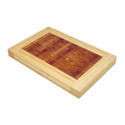 Billot de table rectangulaire bicolore DM CREATION