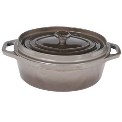 COCOTTE OVALE FONTE TAUPE D.31 -5.6 L-