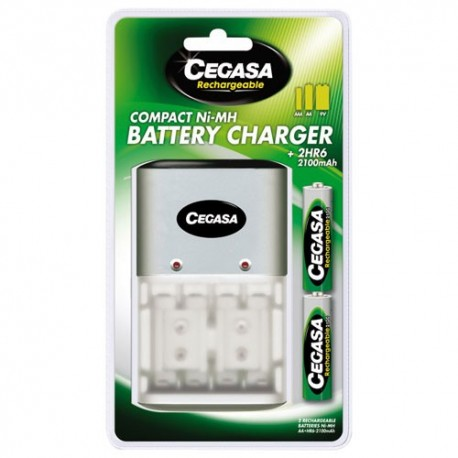 Chargeur compact+2hr6 2100 mah 104381