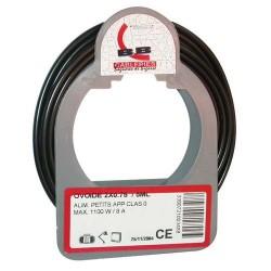 Cable meplat 2x0.75 5m noir bobinot