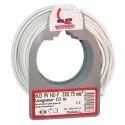 Cable meplat 2x0.75 10m blanc bobinot