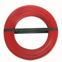 Cable h07vu 1x2.5 10m rouge couronne