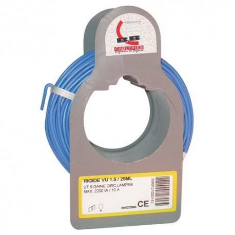 Cable h07vu 1x1.5 25m bleu bobinot