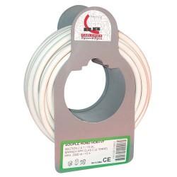 Cable h05vvf 2x1.0 10m blanc 90607025j