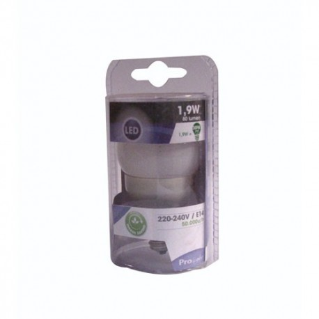 Led spher.1.6w e14 80lm chaud prol.sc
