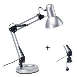 Lampe de bureau articulee techno argen
