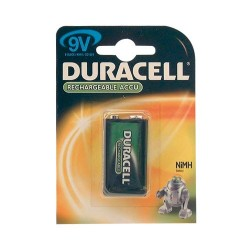 Accus hr9v rechargeable duracell bl
