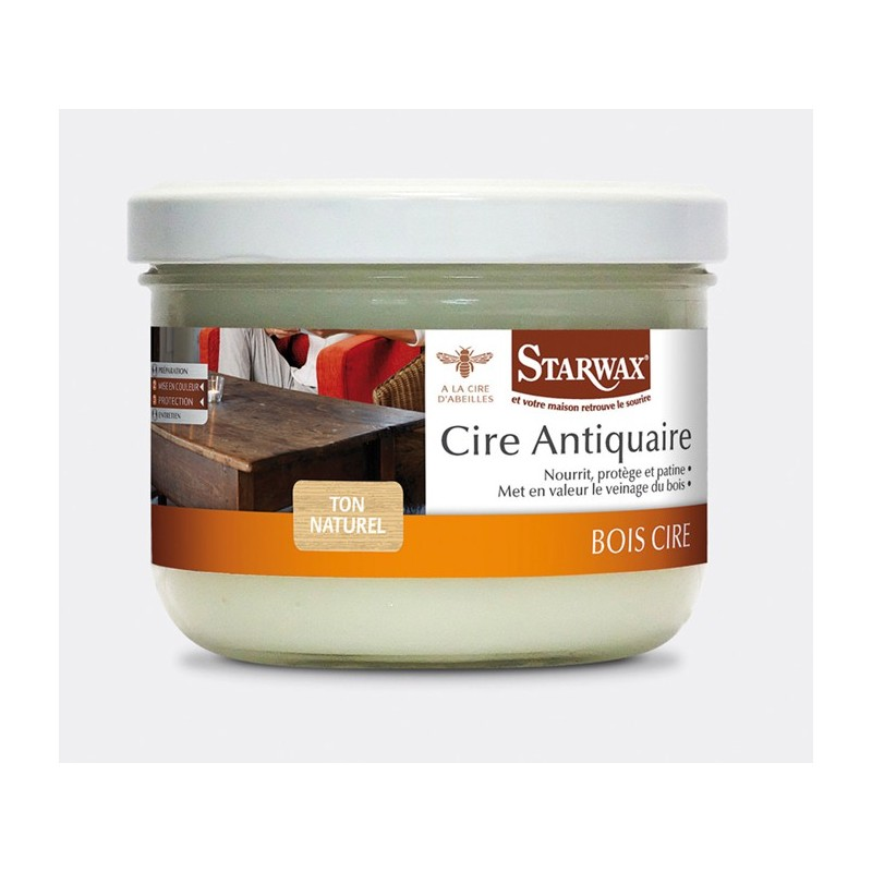 droguerie lafanechere vente en ligne cire antiquaire pate chene clair 375ml starwax. Black Bedroom Furniture Sets. Home Design Ideas