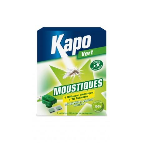 DIFFUSEUR ANTI MOUSTIQUES + 10 TABLETTES 100% VEGETAL