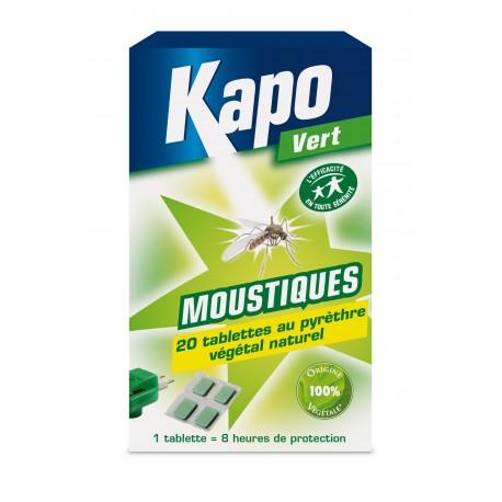 RECHARGE 20 TABLETTES ANTI MOUSTIQUES 100 % VEGETAL  KAPO