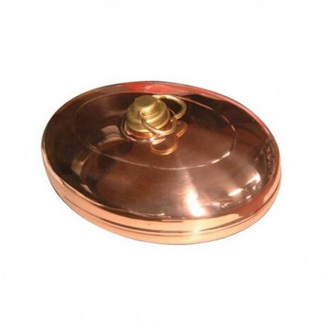 Bouillotte ovale en cuivre rouge