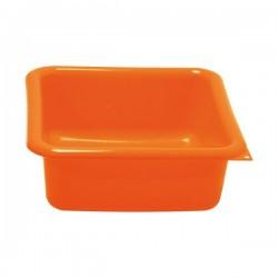 Cuvette carrée 5,5 L orange ALUMINIUM ET PLASTIQUE