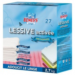 ECNESS LESSIVE ACTIVEE SANS PHOSPHATES 2,7KG