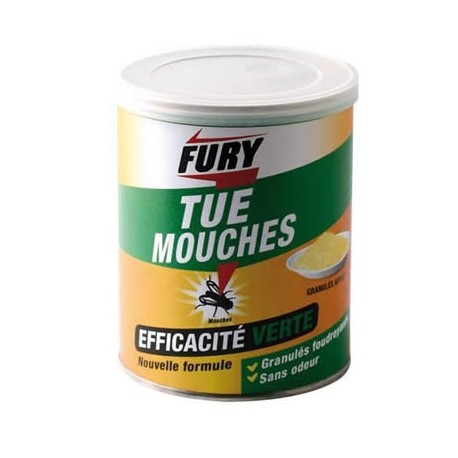 MOUCHES FOUDROYANTS GRANULES BOITE 400G FURY