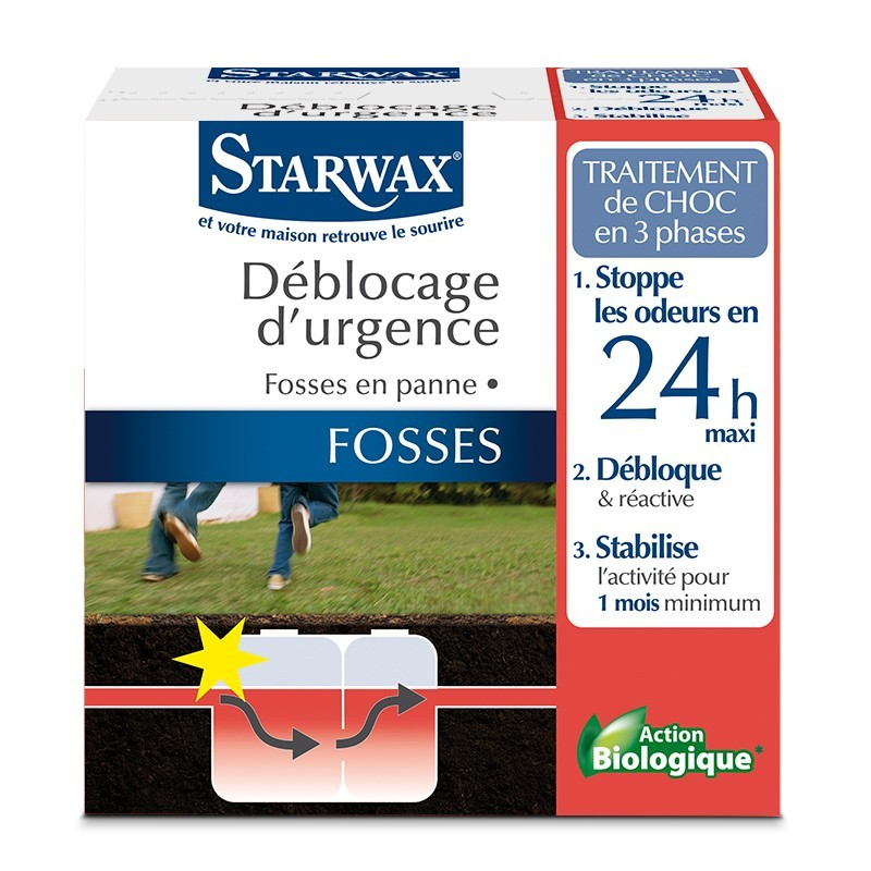 fosse bloquee traitement urgence fosses bloquees 2x200gr starwax. Black Bedroom Furniture Sets. Home Design Ideas