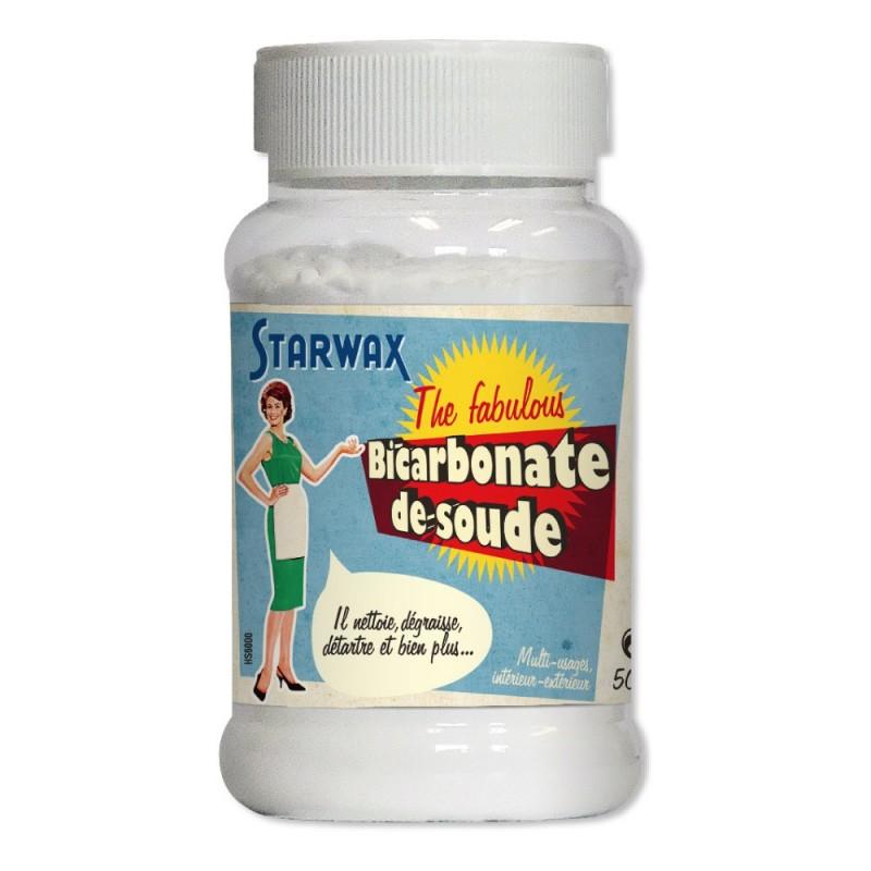 Bicarbonate de soude menager 500g starwax the fabulous - Bicarbonate de soude linge deteint ...