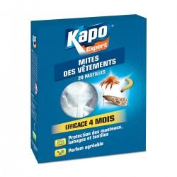 MITES DES VETEMENTS X20 PASTILLES EN SACHET INDIVIDUEL KAPO