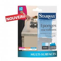 2 EPONGES MICROFIBRES STARWAX