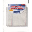 SERPILLIERE GAUFREE EXTRA-BLANCHE DOUBLE 50X100