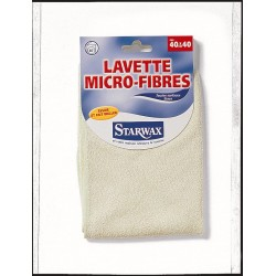 LAVETTE MICRO-FIBRE COULEURS ASSORTIES 40X40 STARWAX