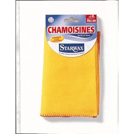 LOT DE 2 CHAMOISINES 40X50 STARWAX