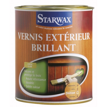 VERNIS EXTERIEUR ET INTEMPERIES CHENE CLAIR BRILLANT 1 L STARWAX