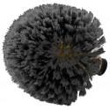 TETE DE LOUP SYNTHETIQUE GRISE DOUILLE FRANCAISE (adaptable sur manches télescopiques, 433197, 433163 et 433198)