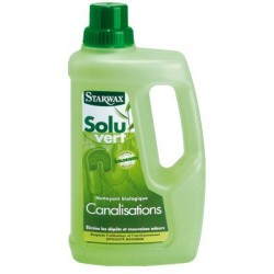 NETTOYANT BIOLOGIQUE CANALISATIONS SOLUVERT STARWAX 1 L.
