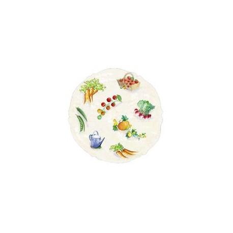 Assiette à dessert 21 cm 'potager' MAISON A VIVRE