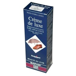 CIRAGE CREME DE LUXE AVEL SAPHIR TUBE APPLICATEUR MARRON FONCE 75ML