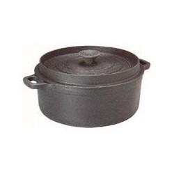 Cocotte ronde 'mijoteuse' noire   22 cm INVICTA