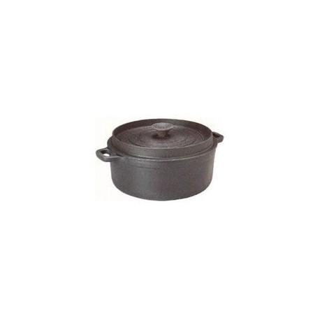Cocotte ronde 'mijoteuse' noire   24 cm INVICTA