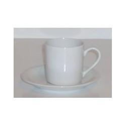 Paire tasse à café 'blanc' 10 cl