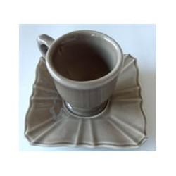 Paire tasse à café 'evora taupe'