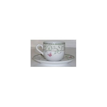 Paire tasse à café 11 cl 'butterfly'