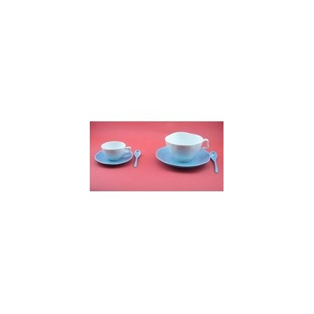 Paire tasse à déjeuner 'vallauris bleu'