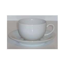 Paire tasse à thé boule 'blanc' 20 cl