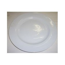 Plat rond 'blanc' 30,5 cm